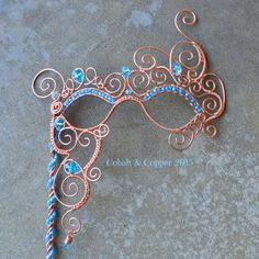 Masquerade Mask by CobaltandCopper on Etsy