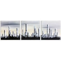 """Abstract painting cityscape """"The city"""", hand made with acrylic, by artist Annie Roi, France."""