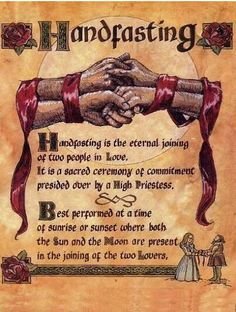 Many Pagan and Wiccan couples choose to have a handfasting ritual instead of a traditional wedding ceremony. In some cases, it may be simply Wiccan Wedding, Viking Wedding, Medieval Wedding, Celtic Wedding, Wedding Vows, Wedding Ideas, Geek Wedding, Trendy Wedding, Gothic Wedding