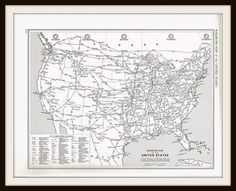antique map united states railroad map 1949 us map by knickoftime 1150