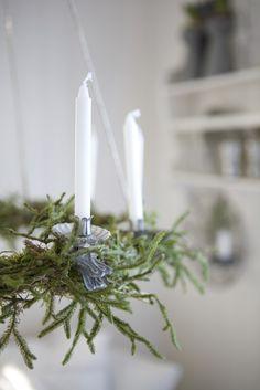lovely chandelier wreath