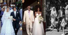 Sezon weselny w pełni. Z tej okazji przypominamy najpiękniejsze kreacje znanych panien młodych. Eartha Kitt, Vogue Wedding, Lara Stone, Josephine Baker, Farrah Fawcett, Lace Wedding, Wedding Dresses, Charlotte Casiraghi, Jane Fonda