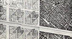 aerial view of Le Corbusier's Plan Voisin - Paris - 1925