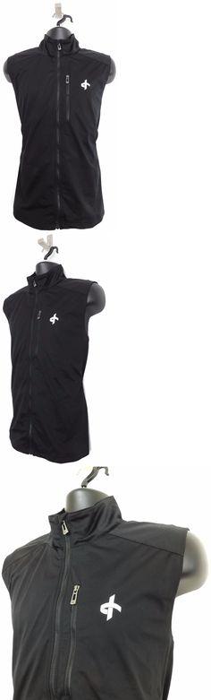 1f7cd96557c52b Athletic Vests 181132  Cross Sportswear New Large Mens Full Zip Golf Wind  Vest (Black