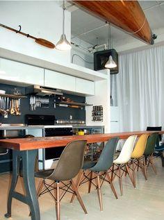 Salon - Salle à manger - design industriel
