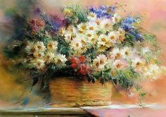 Art Floral, Still Life Flowers, Ancient Art, Beautiful Paintings, Art Oil, Impressionist, Flower Art, Beautiful Flowers, Art Drawings