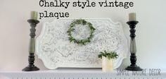 Vintage Plaque Transformation:  Chalk Paint DIY.... http://www.simplenaturedecorblog.com/chalk-paint-diyvintage-plaque/
