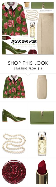 """""""Rock the Vote in Style"""" by asteroid467 ❤ liked on Polyvore featuring Gucci, Maryam Nassir Zadeh, Jil Sander, DaVonna, Lancôme, H&M, Burberry, polyvorecommunity, polyvoreOOTD and rockthevote"""