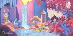 Animation Film, Disney Animation, Disney Fine Art, Disney Treasures, Fantasia Disney, Disney Artists, Disney Designs, Canvas Art, Canvas Size