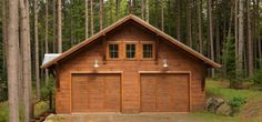 Contemporary Camp In The Woods Garage
