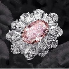 A 3.36cts Fancy Pink IF Diamond Ring from David Mor Jewelry.