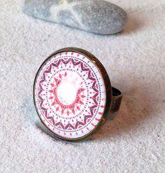 """Ringe - Gläserner Ring """"Mandala"""" - ein Designerstück von Smilland bei DaWanda"""