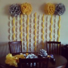Abstract Grace: yellow and grey baby shower ... or grey and turquoise blue would be cute too!