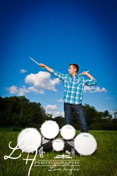 Senior Photos - Outdoor - with drums
