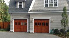 Custom Wood Carriage House Garage Door