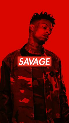21 Savage IPhone Wallpaper  Savage box logo