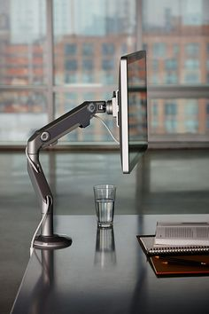 Sleek and modern monitor arm that we offer. It is very #ergonomic and great for the workplace. Check it out on our website.