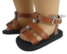 Brown Gladiator Summer Sandals Shoes made for 18