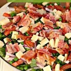 layered bacon and swiss salad