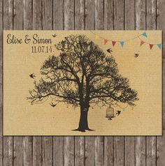 faire part mariage automne feuille ve al pochette tissu broche