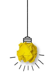 Light bulb made from a yellow paper ball Free Photo Cute Wallpapers, Wallpaper Backgrounds, Poster Background Design, Plakat Design, Paper Balls, Yellow Paper, Stop Motion, Banners, Light Bulb