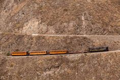 Train going up on Nariz del Diablo, Ecuador.
