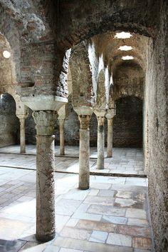 "Photograph taken in the Arab baths ""The Bañuelo"" in the Carrera del Darro in Granada (Spain)."