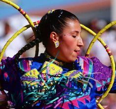 Lisa Odjig (Odawa/Objiwe) performing at the museum's World Championship Hoop Dance competition. Heard Museum, Phoenix, Arizona [PCD200:1211410_9_cm]