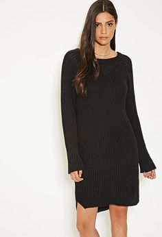 MLM Ribbed Knit Sweater Dress   Forever 21 - 2000162660