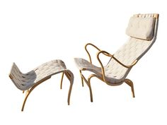Machine Age | Pernilla Lounge Chair and Ottoman by Bruno Mathsson