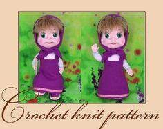 Masha-Amigurumi Crochet Knit Pattern PDF file by Anna Sadovskaya