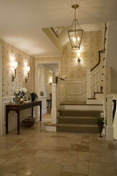 General neutral, transitional scheme. traditional staircase by Duckham Architecture & Interiors