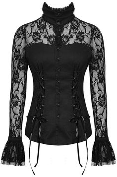 victorian inspired *high neck* lace blouse <3
