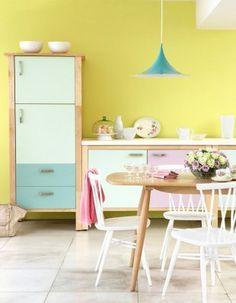 1000 id es sur murs jaune p le sur pinterest cuisines for Cuisine jaune pale