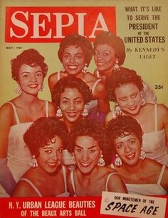 The annual Society event, was featured on a 1961 magazine cover African American Makeup, African American Hairstyles, African American History, Jet Magazine, Black Magazine, Ebony Magazine Cover, Magazine Covers, Black Art, Indiana
