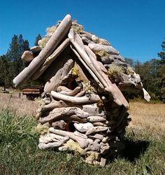 Birdhouse,Driftwood Art,Two Levels,Hand Made,Tropical,Beach,Garden,Decor,Eco Friendly,Reclaimed Driftwood,Ooak on Etsy, $110.00