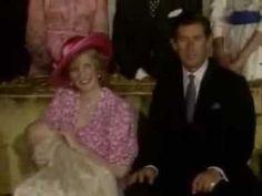 Princess Diana at William's Christening
