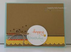 Greeting Card Birthday Handmade Happy Birthday by Rubberredneck, $5.95