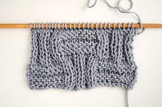 How to knit the big basketweave stitch | We Are Knitters Blog