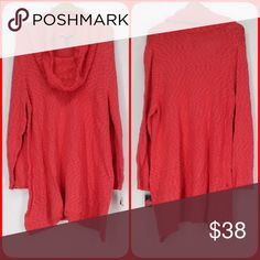 🅿️LUS! Coral Cowl Neck Tunic Sweater! NEW! Soft and roomy! Style & Co Sweaters Cowl & Turtlenecks