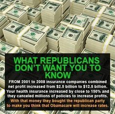 ...they bought the Republican party......