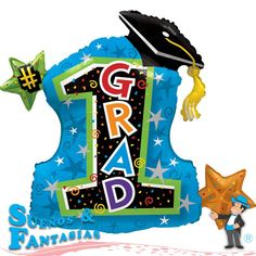 1 Grad Cap - Stars. http://suenosyfantasias.com/celebraciones/graduacion.html