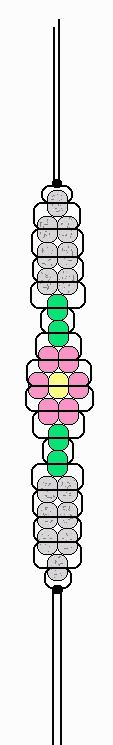 Flower Bracelet pony beads pattern