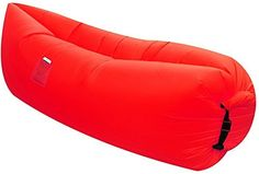 Air Lounger parachute material made with heavy duty waterproof blow up couch / sofa suitable for up to 2 person kids and adults camping – hiking – outdoor – pool –even floats on water (RED) >>> Unbelievable product right here! : Air Lounges