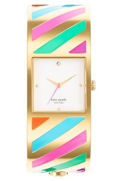 kate spade new york 'delacorte' bangle watch available at #Nordstrom #candystripes