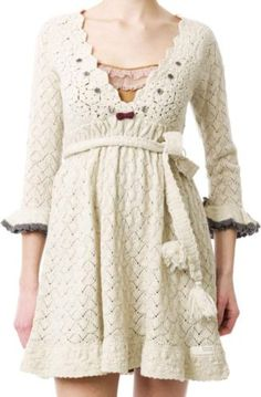 Odd Molly continental knit dress chalk