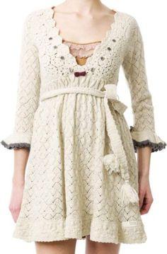 Odd Molly continental knit dress chalk