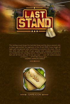 Last Stand - Flick & Play (Game Design) by Taha Ahmad, via Behance