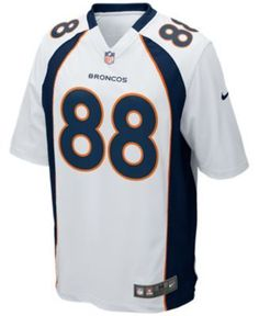 Nike Men s Demaryius Thomas Denver Broncos Game Jersey - White S 543c6b7e6