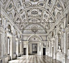 All made of marble: The Marble Gallery in the Ducal Palace in Northern Italy is a hauntingly beautiful reminder of times gone by
